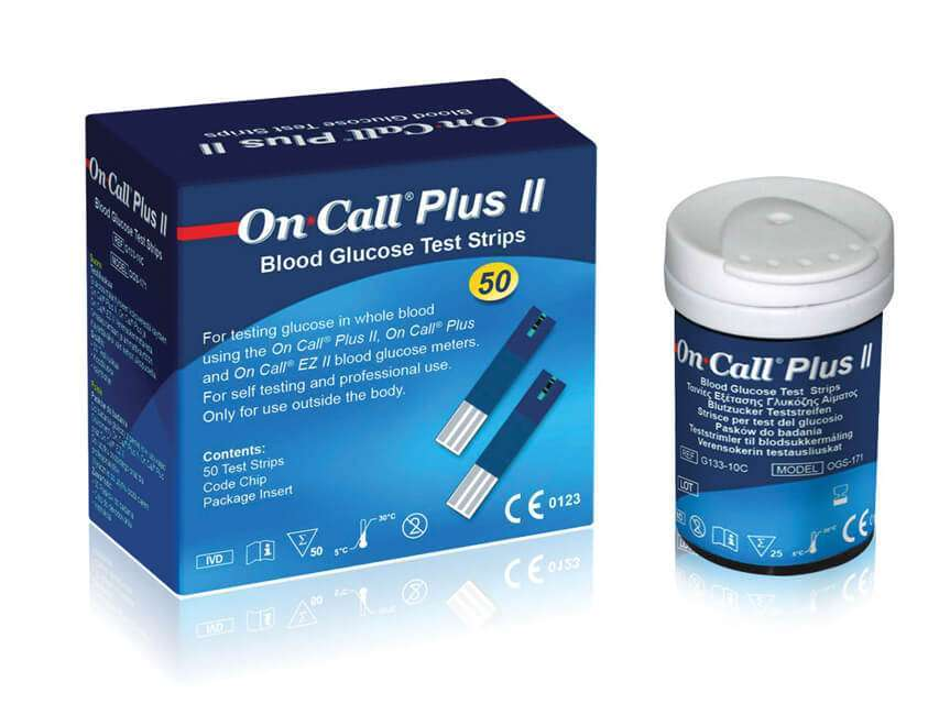 Buy On call plus Blood Glucose 50 test strips